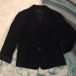 Lafayette 148 New York Black Button Blazer Top 10